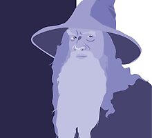 Gandalf the Periwinkle by Jennifer Mark