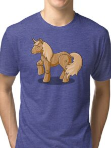 Unocchio the Wooden Unicorn Tri-blend T-Shirt