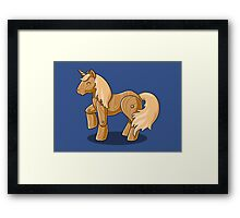 Unocchio the Wooden Unicorn Framed Print