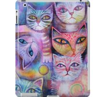 Mother cat and kittens II iPad Case/Skin