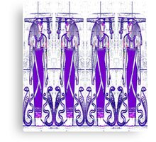 Priests and Cobra White and Purple III Canvas Print