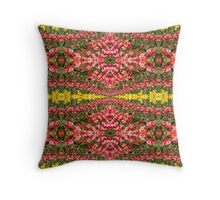 Red & Yellow Tulip Field Pattern Throw Pillow