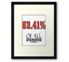 Statistics Math (Joke) Framed Print