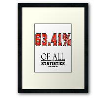 Statistics Math (Joke) Framed Print