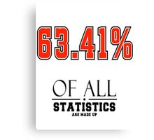 Statistics Math (Joke) Canvas Print