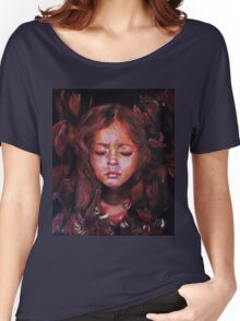 Hiding Within - original acrylic painting Women's Relaxed Fit T-Shirt