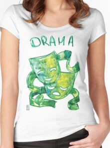 Drama Masks Women's Fitted Scoop T-Shirt