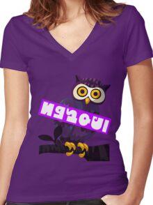 Splatfest Team Night Owl v4 Women's Fitted V-Neck T-Shirt