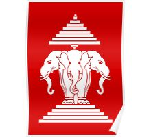 Erawan Lao / Laos Three Headed Elephant Poster