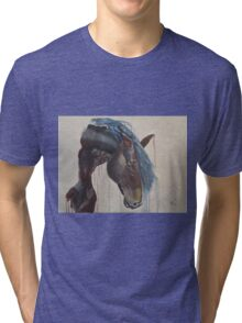 Horse in the Abstract - Original acrylic painting Tri-blend T-Shirt