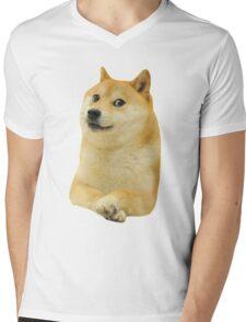 Funny meme dog. Doge Mens V-Neck T-Shirt