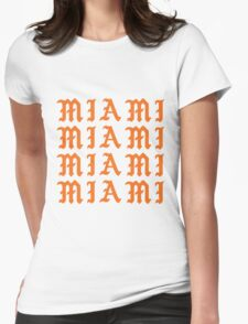 LIFE OF MIAMI  Womens Fitted T-Shirt