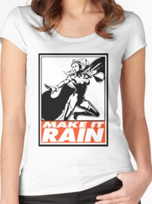 Storm Make It Rain Obey Design Women's Fitted Scoop T-Shirt