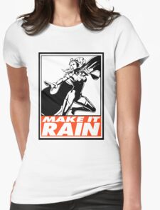 Storm Make It Rain Obey Design Womens Fitted T-Shirt