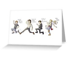 1D on the Run Greeting Card