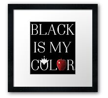 Once Upon A Time - Black Is My Color Framed Print