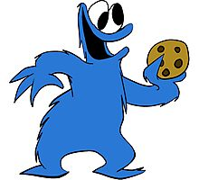 Cookie Monster with cookie Photographic Print