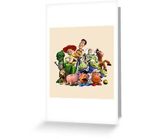 all story toy Greeting Card