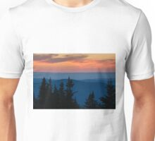 Dusk on the Berkshires From Mount Greylock, Massachusetts. Unisex T-Shirt