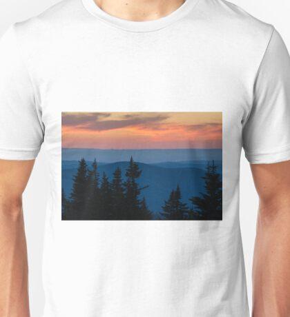 Dusk on the Berkshires From Mount Greylock, Massachusetts. Unisex T-Shirt
