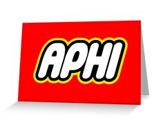 Aphi Lego Greeting Card