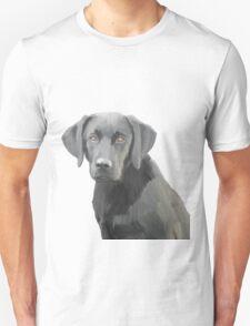 Black Labrador Retriever Dog Oil Painting Unisex T-Shirt