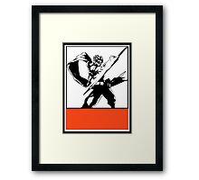 Srider Hiryu Obey Design Framed Print