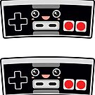 Cute 80s Controllers Stickers by DetourShirts