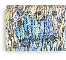 Breeze. Hand draw  ink and pen, Watercolor, on textured paper Canvas Print