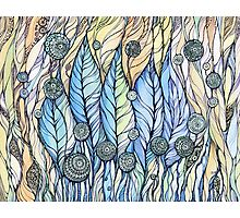 Breeze. Hand draw  ink and pen, Watercolor, on textured paper Photographic Print