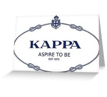 Kappa Prada Greeting Card