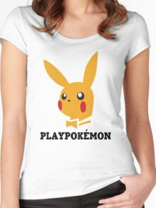 Playboy-Pokemon Women's Fitted Scoop T-Shirt