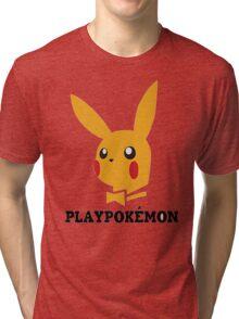 Playboy-Pokemon Tri-blend T-Shirt