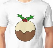 Christmas pudding line art Unisex T-Shirt