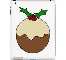 Christmas pudding line art iPad Case/Skin