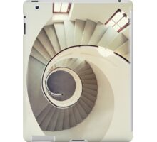 Spiral staircase in pastel tones iPad Case/Skin
