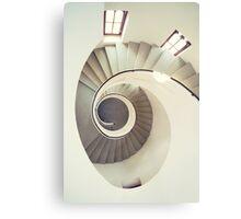Spiral staircase in pastel tones Metal Print