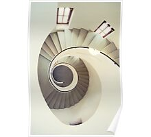 Spiral staircase in pastel tones Poster