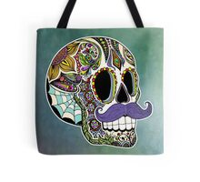 Mustache Sugar Skull (Color Version) Tote Bag