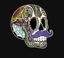 Mustache Sugar Skull (Color Version) T-Shirt