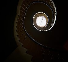 Dark spiral staircase by JBlaminsky