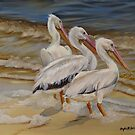 Painted Birds By Phyllis Beiser by Phyllis Beiser