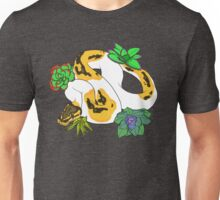 Pied Ball Python with Succulents Unisex T-Shirt