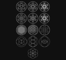 13 Circles [White] | Sacred Geometry by SirDouglasFresh