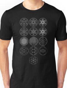 13 Circles [White] | Sacred Geometry Unisex T-Shirt