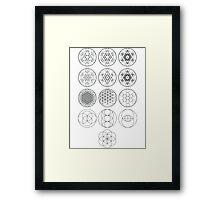 13 Circles | Sacred Geometry Framed Print