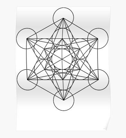 Metatron's Cube   Sacred Geometry Poster