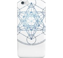 Metatron's Cube [The Blue Stars] | Sacred Geometry iPhone Case/Skin