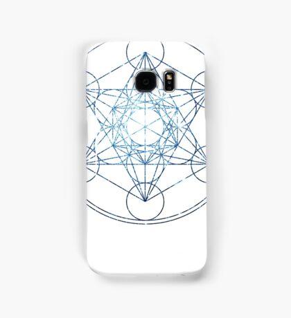 Metatron's Cube [The Blue Stars] | Sacred Geometry Samsung Galaxy Case/Skin