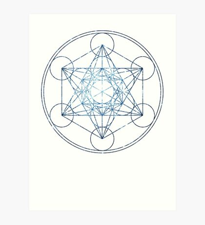 Metatron's Cube [The Blue Stars] | Sacred Geometry Art Print